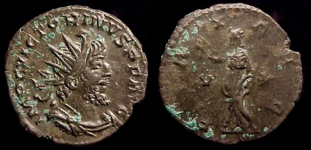 Gallic Empire, Victorinus, 268-270 A.D. Billon Antoninianus, 270-71 A.D.