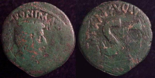 "Augustus, 27 B.C – 13 A.D. Æ ""Moneyer's"" As, 6 B.C."