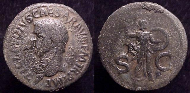 Claudius, 41-54 AD. Æ As, 41-2 AD.