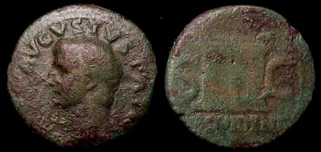 Augustus (27 B.C.-14 A.D.) Posthumous commemorative Æ As, Struck by Tiberius. 22-30 A.D.