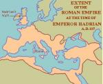 Hadrianstime Roman empire map