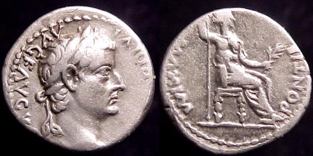 "Tiberius AR Denarius, 14-37 AD. So-Called ""Tribute Penny"""