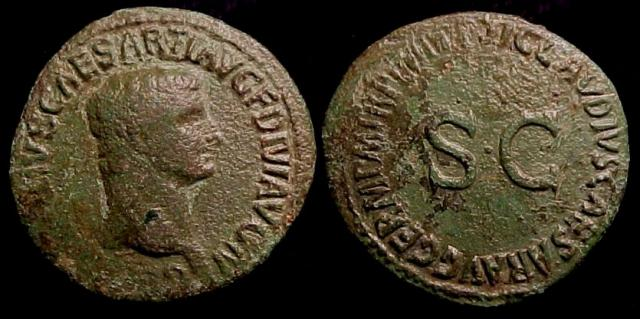 Germanicus, brother of Claudius and father of Caligula, Posthumous Æ As by Claudius