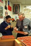 Mentor Bill Decker with study at Wellington sch in Columbus OH