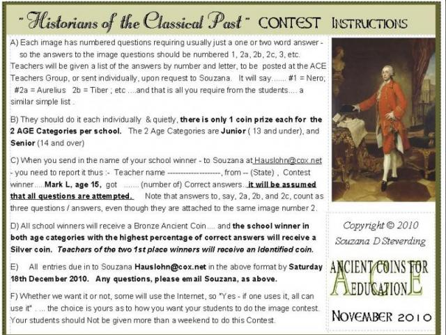 Historians of the Past --- CONTEST Instructions.