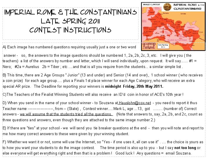 ImpRome n Constantinians Contest Instructions2011