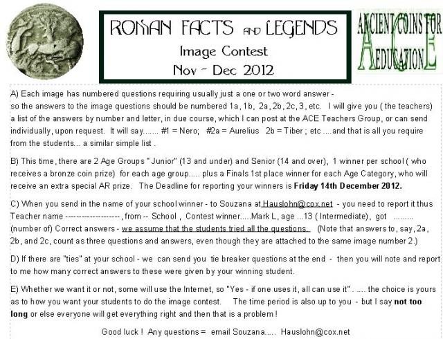 Roman Facts and Legends Instructions